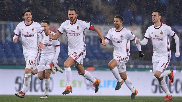 AC Milan reach cup final on penalties after goalless 210 minutes
