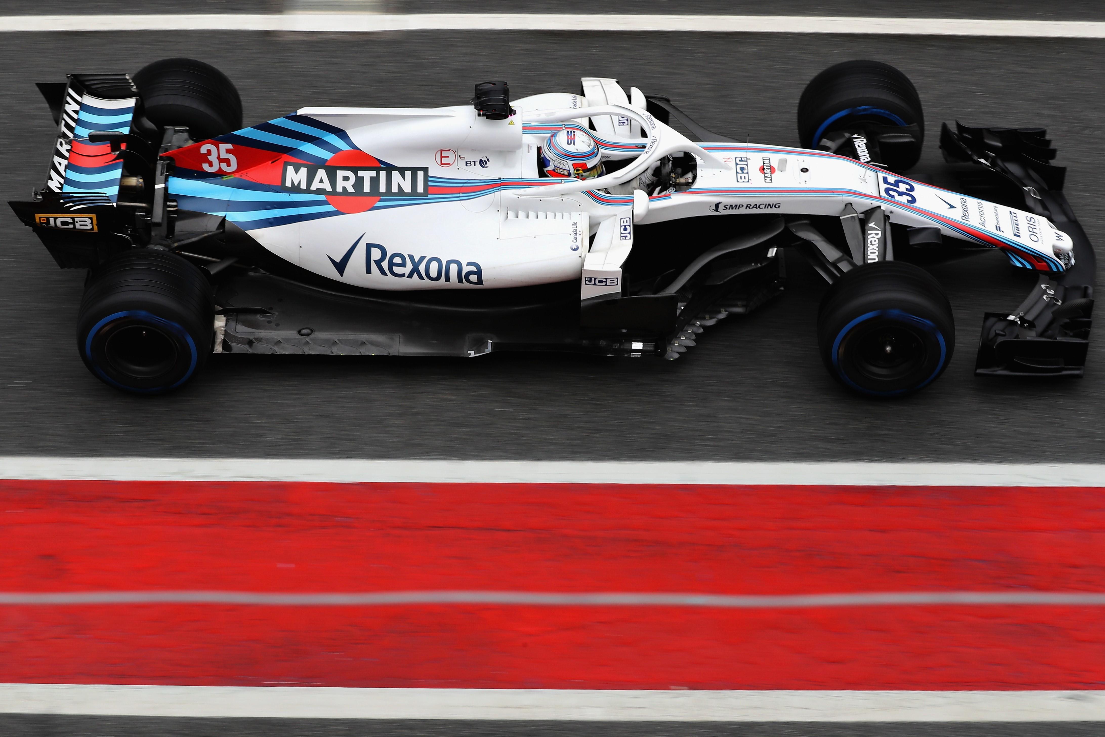 Sergey Sirotkin (Williams) en test à Montmelo le 1er mars 2018