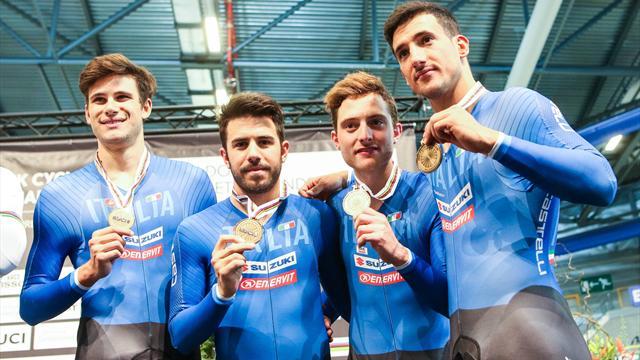 Italia pazzesca a Glasgow, è record italiano: il quartetto dell'inseguimento si giocherà anche l'oro