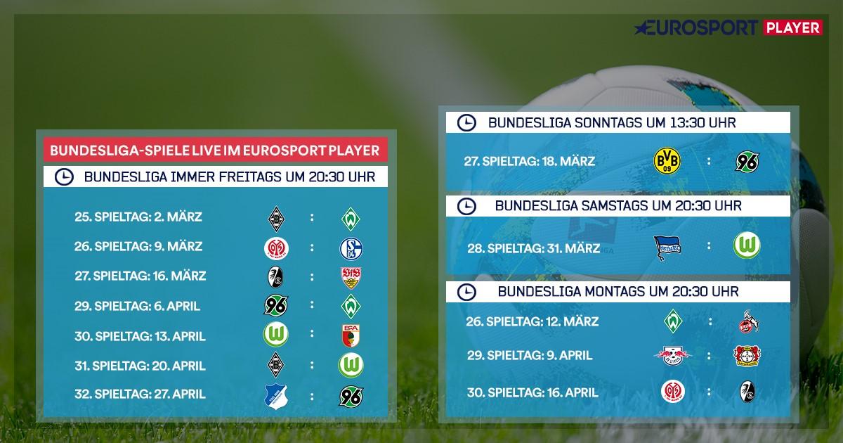 Bundesliga Spiele Bei Eurosport Diese Partien Seht Ihr Bis