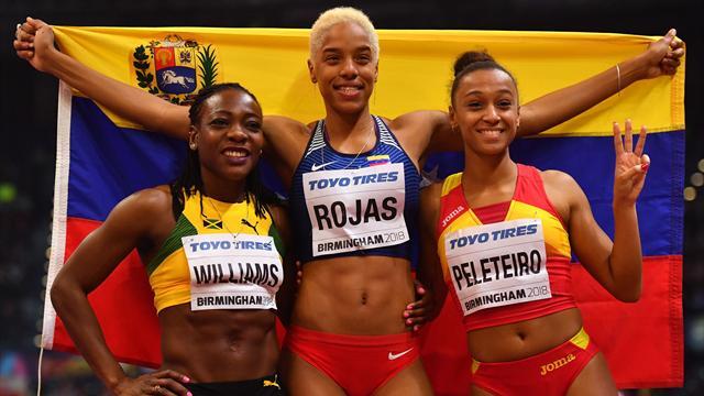Yulimar Rojas ganó oro en la categoría