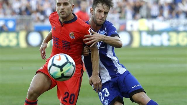 Héctor Moreno anota en victoria de la Real Sociedad