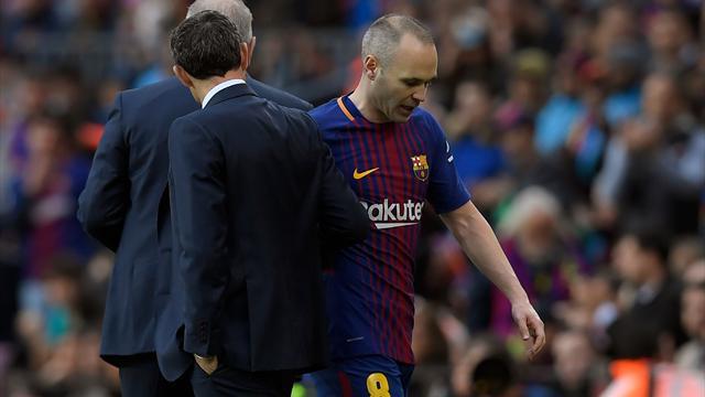 Barça, Iniesta absent trois semaines — RUMEUR