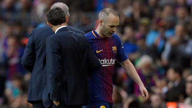 Le Barça pourrait être contraint de se passer d'Iniesta pendant trois semaines