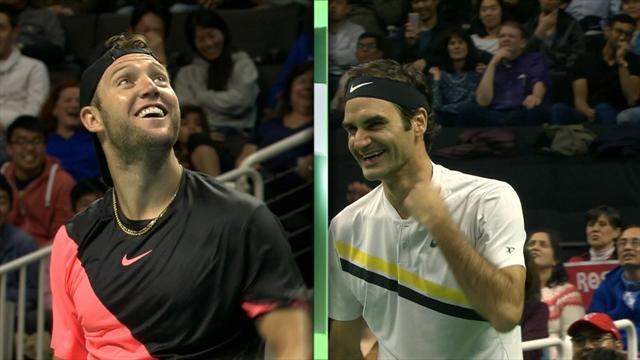 """Federer cuore d'oro: raccoglie 2,5 milioni di dollari nel """"Match for Africa"""" con Sock"""