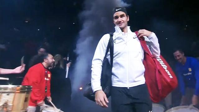 """""""Regarde par-là !"""" : Sock a trouvé le moyen de surprendre Federer... et c'est plutôt drôle"""