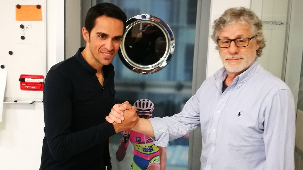 VÍDEO  Así fue la llegada de Alberto Contador a Eurosport en su primer  experiencia como comentarista - Tirreno - Adriatico 2018 - Ciclismo -  Eurosport ... bfc6bfad7813a