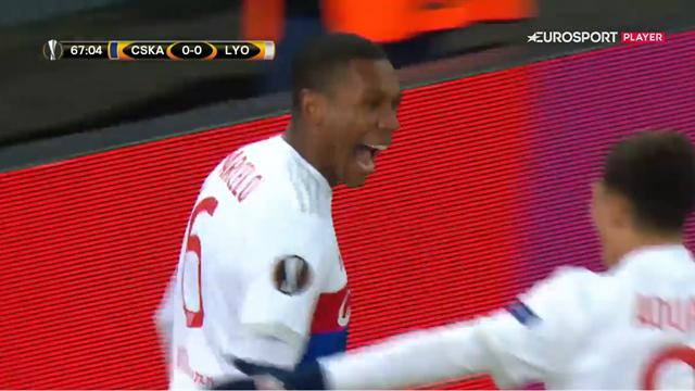 Highlights: Marcelo-hovedstød sikrede Lyon sejren i Moskva!