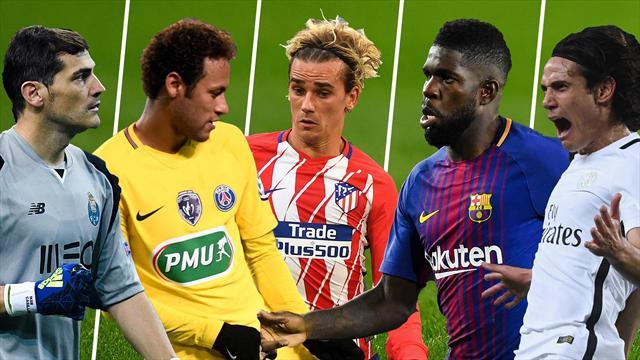 Casillas, Neymar, Griezmann, Umtiti y Cavani, los nombres del día