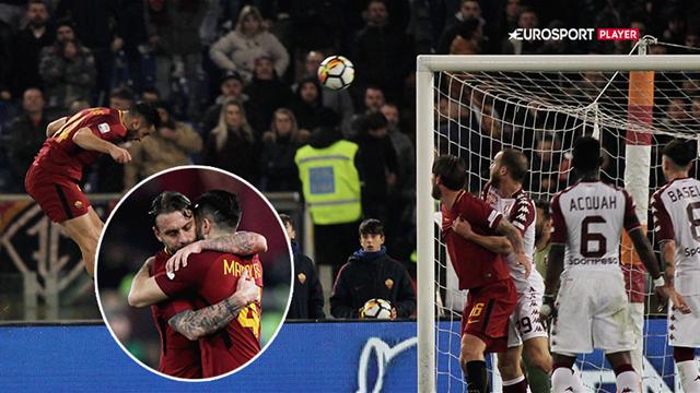 Highlights: Pellegrini cementerer 3-0-sejr til Roma efter ren afklapsning i anden halvleg!