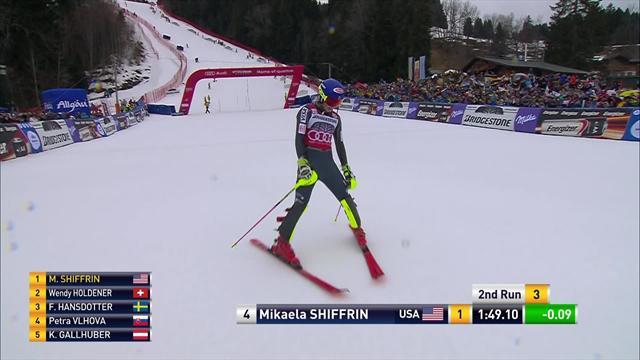 Shiffrin retains World Cup slalom crown with win in Ofterschwang