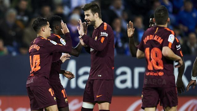Le Barça continue sa promenade