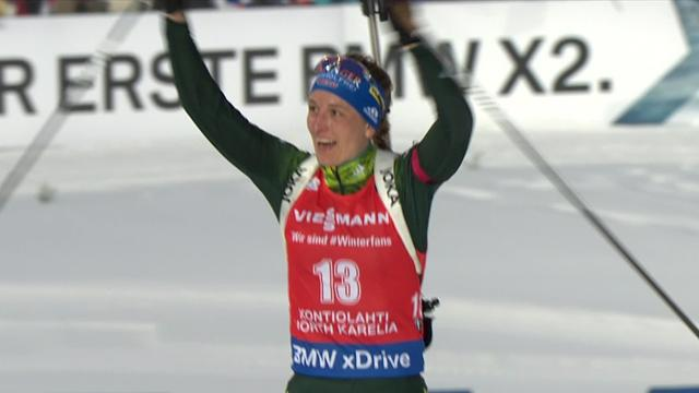 Hinz shows her strength in mass-start Biathlon victory