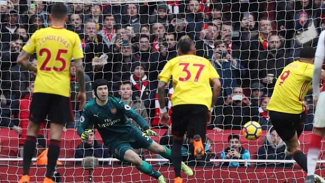 Arsenal star leaves goalkeeper on the floor in demolition of Watford