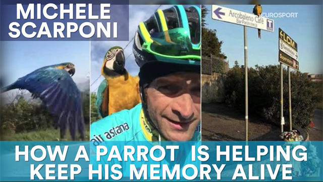 Michele Scarponi: How a parrot is helping keep his memory alive