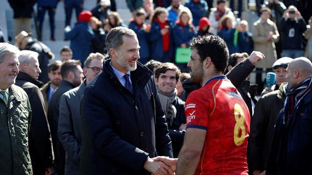 Felipe VI asiste al partido de rugby entre España y Alemania