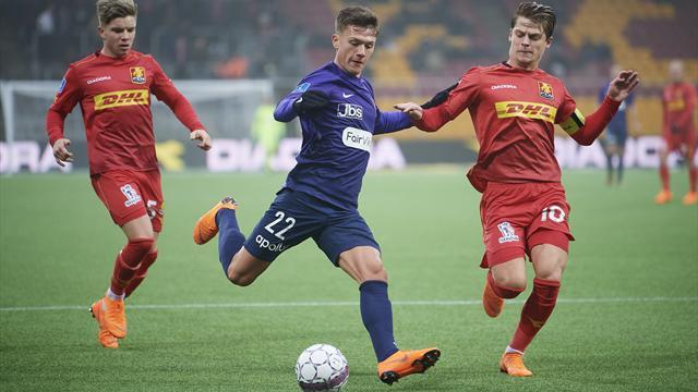 Highlights: Nordsjælland og Midtjylland deler i intenst opgør!