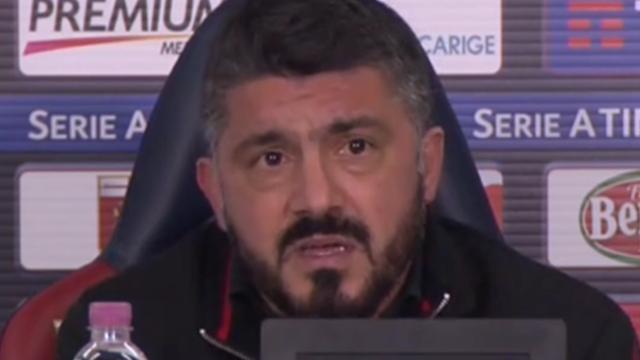 """Gattuso: """"Abbiamo il 30% di possibilità di passare con l'Arsenal ma ce la giocheremo"""""""