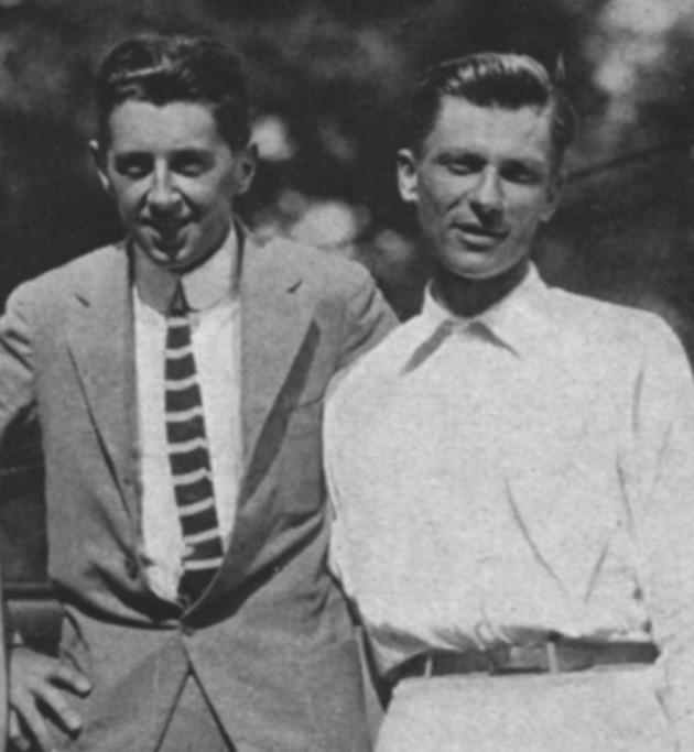 Dick Williams et Karl Behr en 1914.