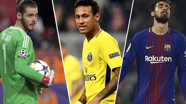 Neymar, De Gea y André Gómes, los nombres del día