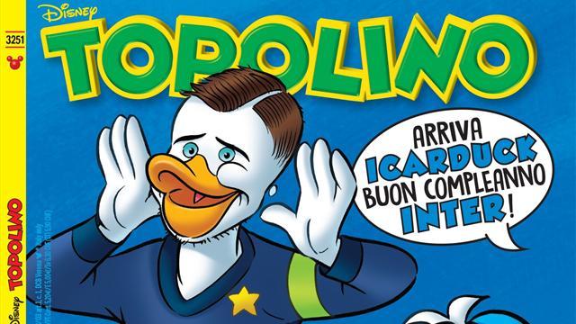 Anche la Disney festeggia i 110 anni dell'Inter: Icardi diventa Icarduck