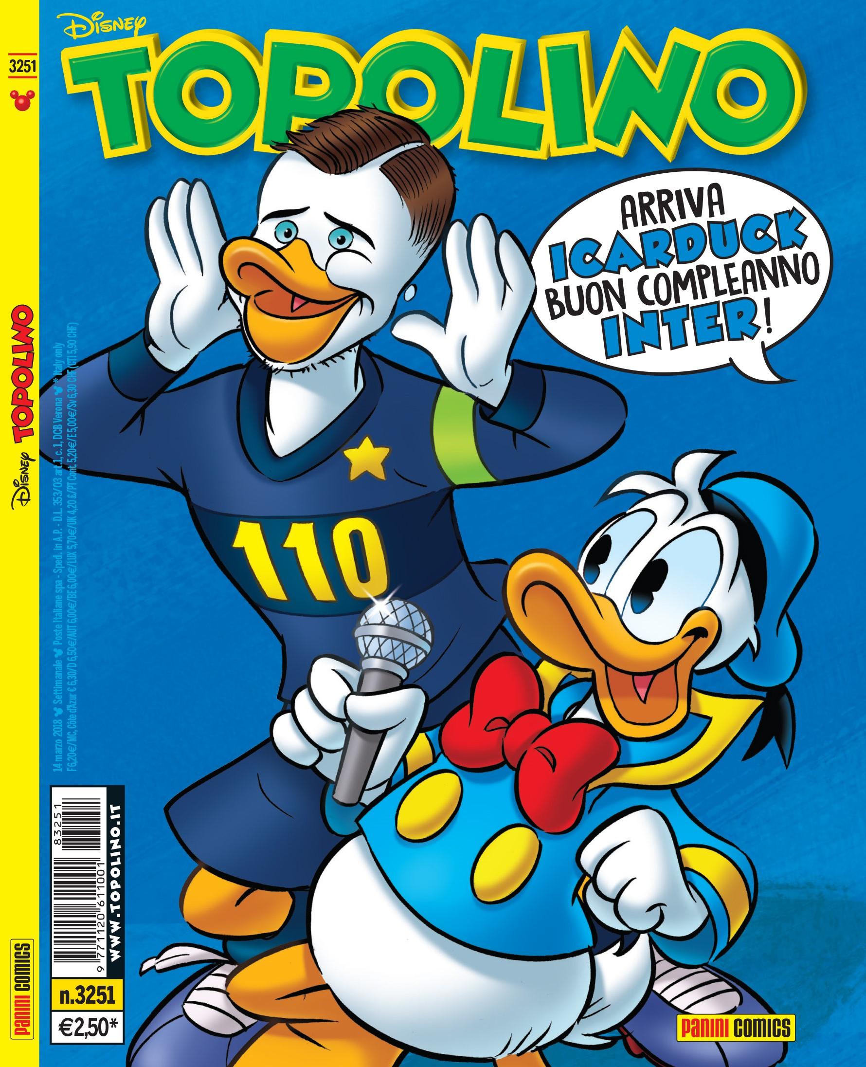 Topolino festeggia i 110 anni dell'Inter: Icardi diventa Icarduck