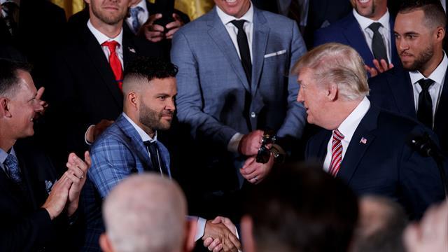La broma de Trump que no sentó bien al MVP de la liga americana de béisbol
