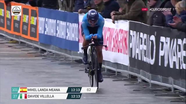 Tirreno-Adriático: Mikel Landa no aguanta el empuje de Thomas en la crono y acaba fuera del podio