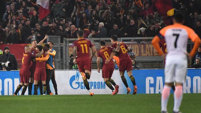 Dzeko schießt Rom ins Viertelfinale