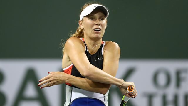 Wozniacki denuncia amenazas del público en Miami durante su partido ante Puig