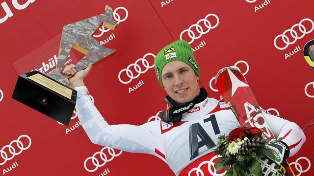 Avant ce 27 janvier 2013, Hirscher n'avait jamais gagné à Kitzbühel