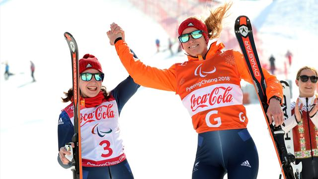 Fitzpatrick and Kehoe claim medal hat-trick with silver in Winter Paralympics Giant Slalom
