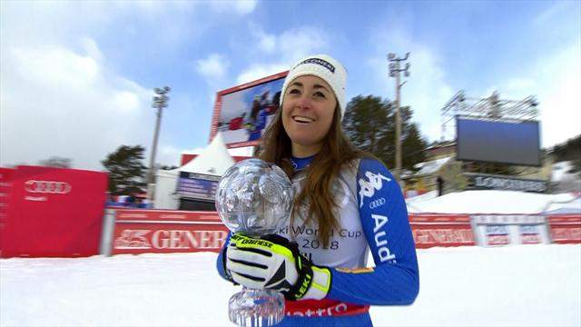 Goggia claims Crystal Globe with Downhill run in Åre
