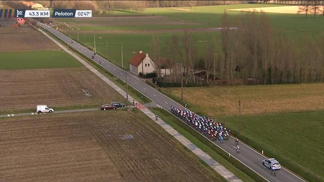 Nokere Koerse: Cesare Benedetti va sulla pista ciclabile e viene bacchettato