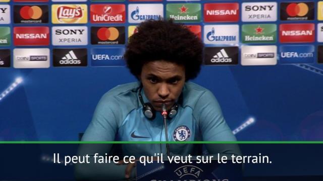 """8es - Willian : """"Chelsea doit faire attention à Messi"""""""