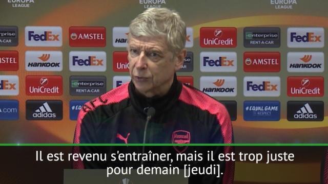 """Arsenal - Wenger: """"Lacazette devrait être disponible après la trêve"""""""