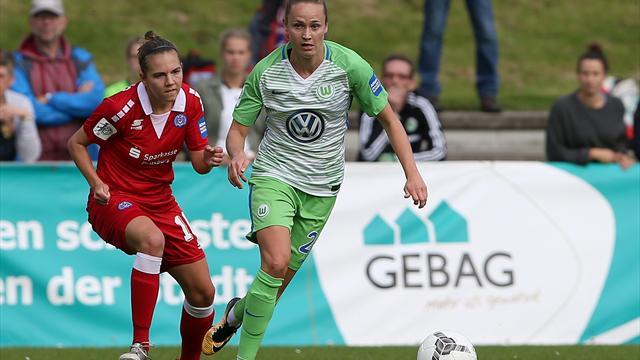 Frauenpokal: Titelverteidiger Wolfsburg im Halbfinale