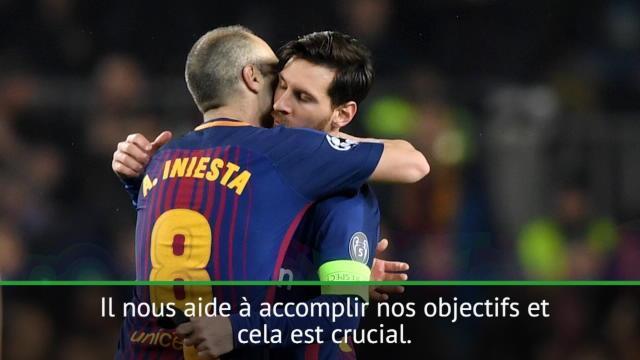 "Iniesta : ""Nous sommes bénis d'avoir Messi"""