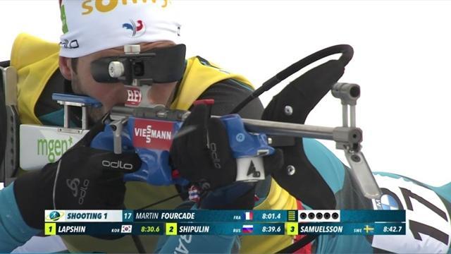 Henrik L'Abee-Lund surprend Johannes Boe et Martin Fourcade — Biathlon / Sprint messieurs