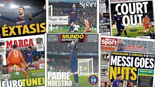 """""""Dieu Messi"""", """"Notre père"""" : La presse européenne célèbre le nouveau récital de Messi"""