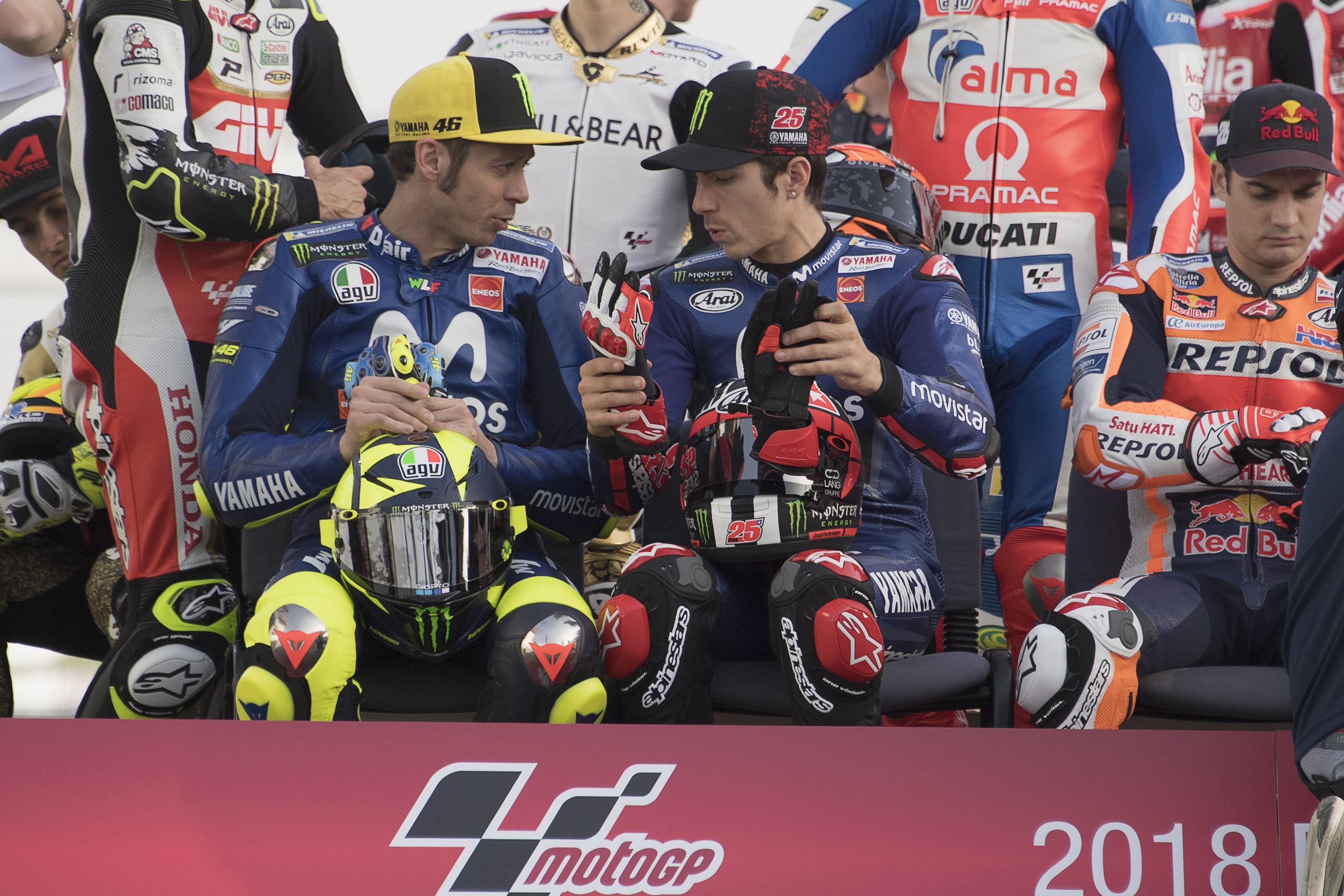 Valentino Rossi, Maverick Vinales (Yamaha Factory) au Grand Prix du Qatar 2018