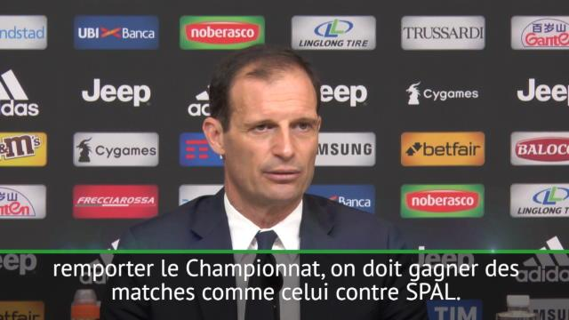 """29e j. - Allegri : """"Pour le titre, on doit gagner contre la SPAL"""""""