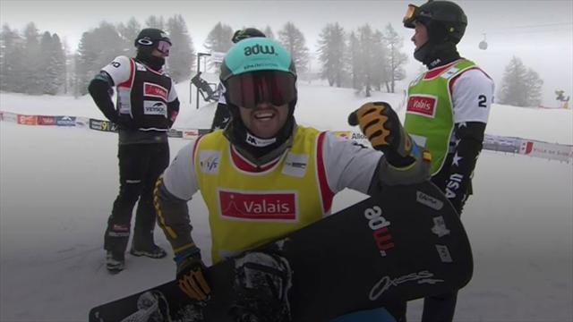 Lucas Eguibar, bronce en Veysonnaz en la Copa del Mundo de Snowboard Cross