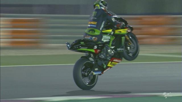 Après sa pole, Zarco s'est payé un wheeling avec Rossi