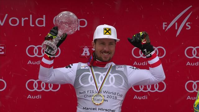 Imperious Hirscher receives his World Cup title