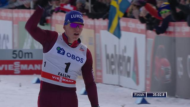 Bolshunov wins by huge margin in Men's 15km Pursuit