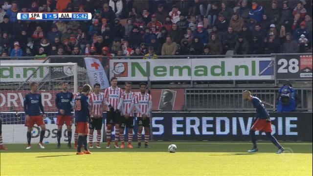Pays-Bas - Schöne et Ziyech régalent sur coups francs pour l'Ajax Amsterdam