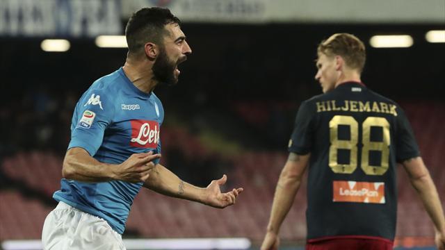 Albiol manda il Napoli a -2 dalla Juventus: un bel Genoa cede per 1-0
