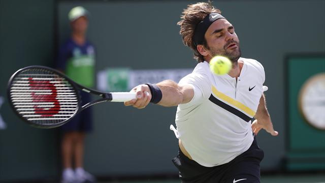Bataille au filet, passing de folie : Le meilleur de Federer à Indian Wells