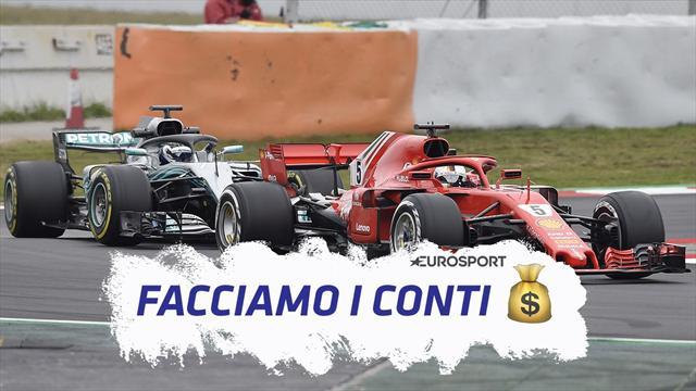 Facciamo i conti: la Ferrari incassa più della Mercedes, ma paga meno di iscrizione